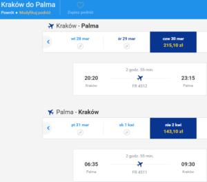 Kraków - Palma 1