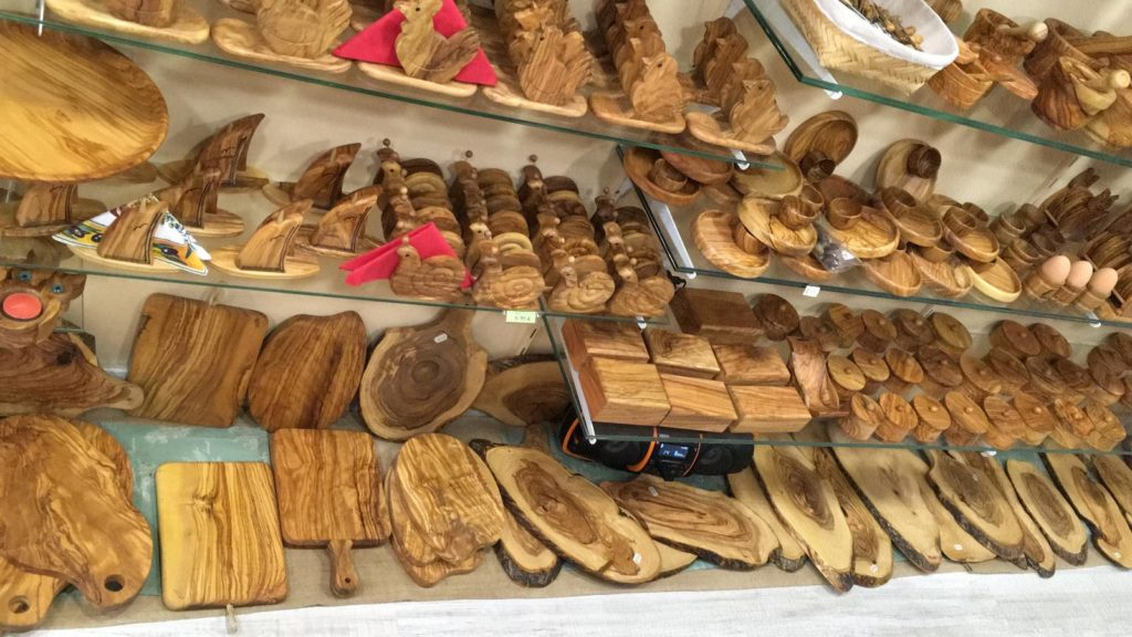 wyroby z drewna oliwnego na majorce
